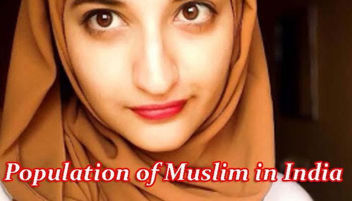 भारत में मुसलमानों की जनसंख्या कितनी है?