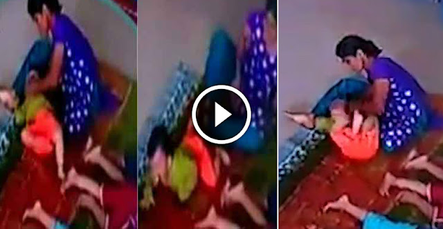 OMG - 10-Month-Old Baby Brutally Beaten Up by Maid in Day Care Centre