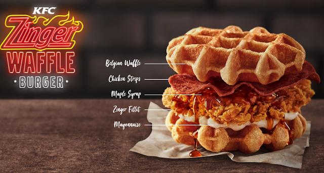 Harga KFC Zinger Waffle Burger