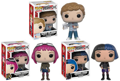 Scott Pilgrim vs. the World Pop! Vinyl Figures by Funko - Scott Pilgrim, Ramona Flowers & Knives Chau