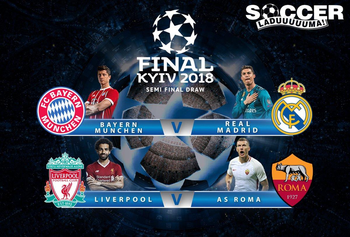 Trước lượt đi Bán kết Champions League 2018