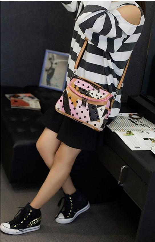 Women's Multicolour Picasso Rivet Shoulder Bag