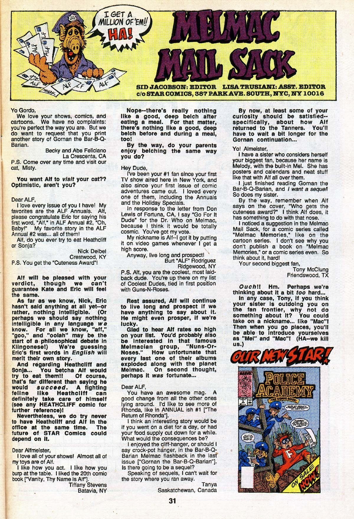 Read online ALF comic -  Issue #25 - 25