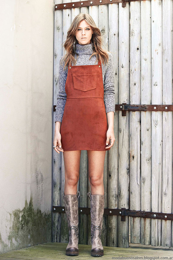 Moda otoño invierno 2016. Tendencias de vestidos tipo enteritos moda otoño invierno 2016.