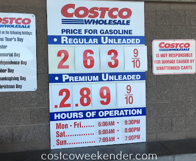 Costco gas for February 22, 2017 at Redwood City, CA