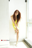 Actress Model Ihana Dhillon Poshoot Gallery in Yellow Lace Short Dress  0011.jpg