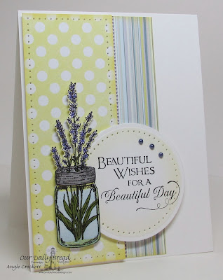 ODBD Canning Jars, Lavender, Sentiments Collection 2, Card Designer Angie Crockett