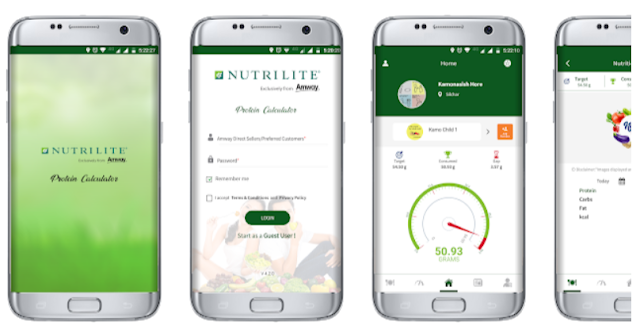 Amway Nutrilite Protein Calculator Mobile App - YouthApps