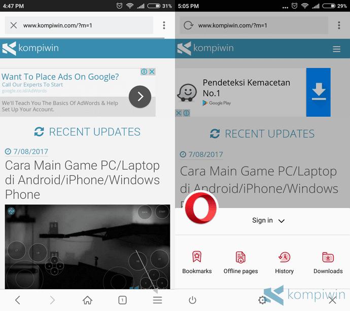 cara hapus browser history di android