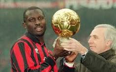 George Weah awarded with the Balon d'Or prize