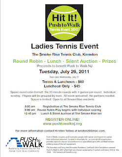 Push To Walk Ladies Tennis Event on 7/26/11 in Kinnelon
