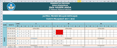 Aplikasi Jadwal Pelajaran SMA