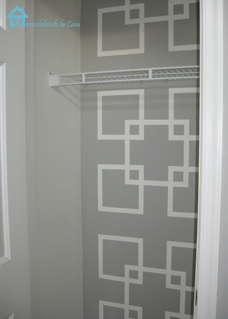 how to create a geometric design on wall