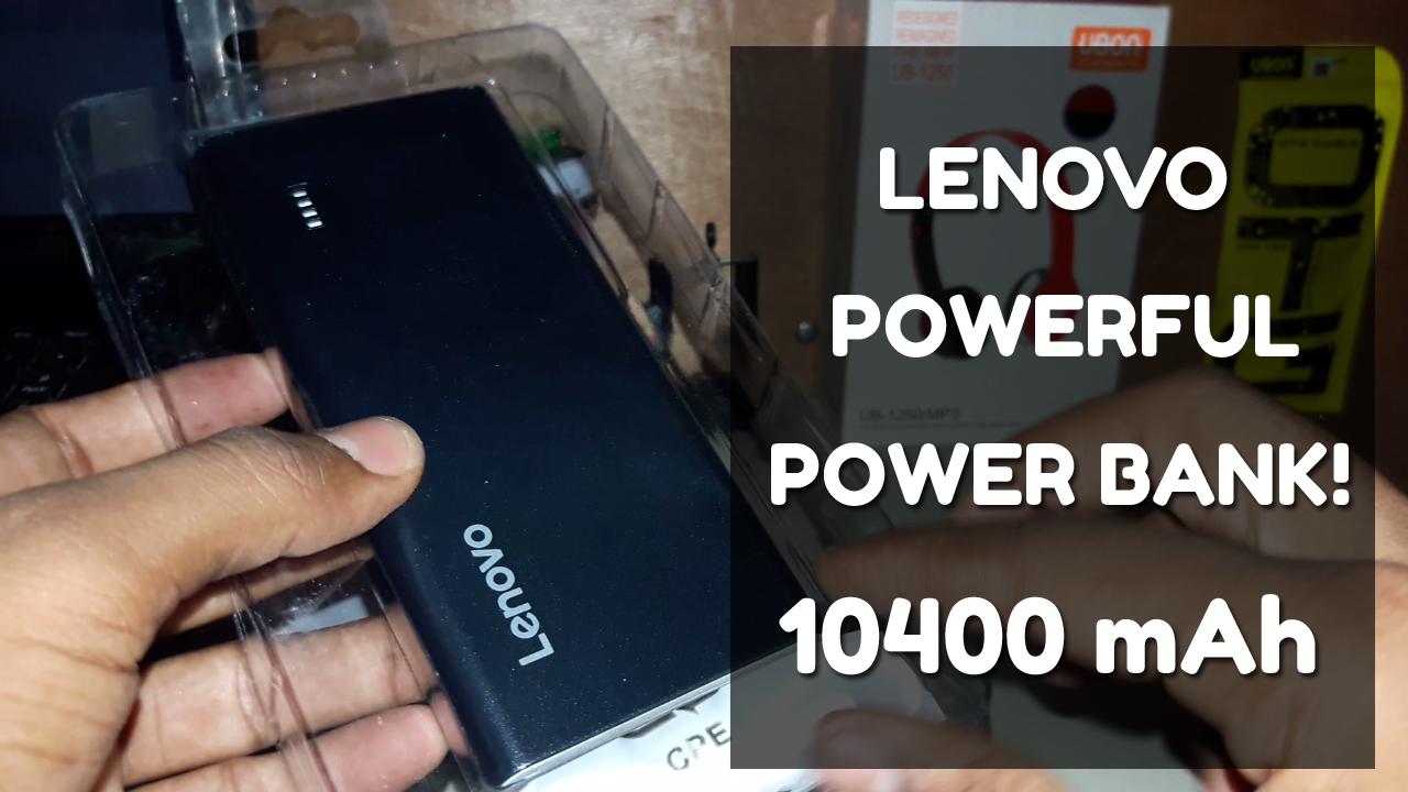 POWERFUL POWER BANK!   Lenovo 10400 mAh Power Bank 2018