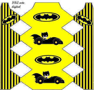 Batman in Black and Yellow, Free Printable Box.