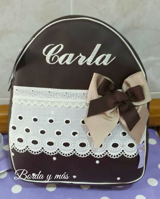 mochila guarderia chocolate