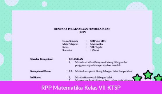 RPP Matematika Kelas VII KTSP