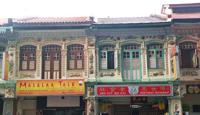 Old houses in Little India Singapore
