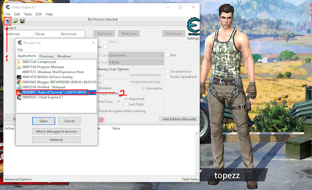 Cara Cheat Rules Of Survival Di PC Dengan Cheat Engine