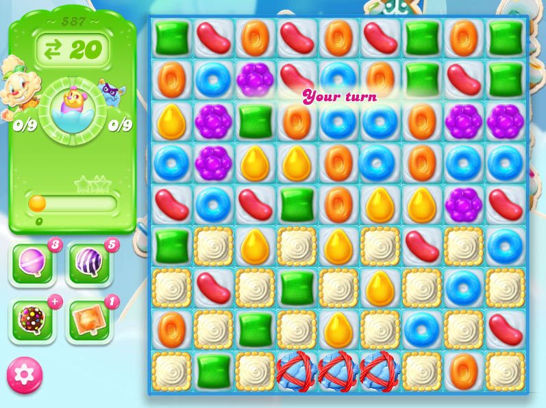 Candy Crush Jelly Saga level 587