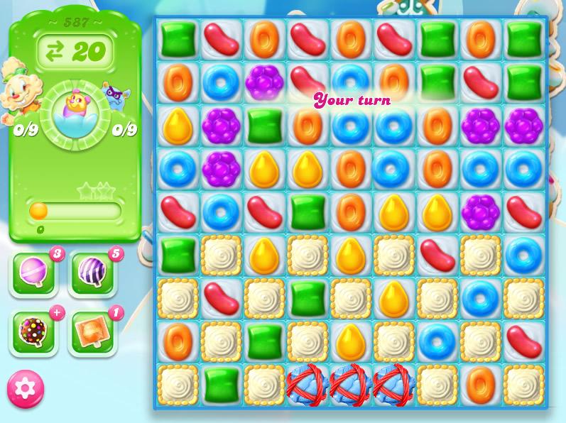 Candy Crush Jelly Saga level 587