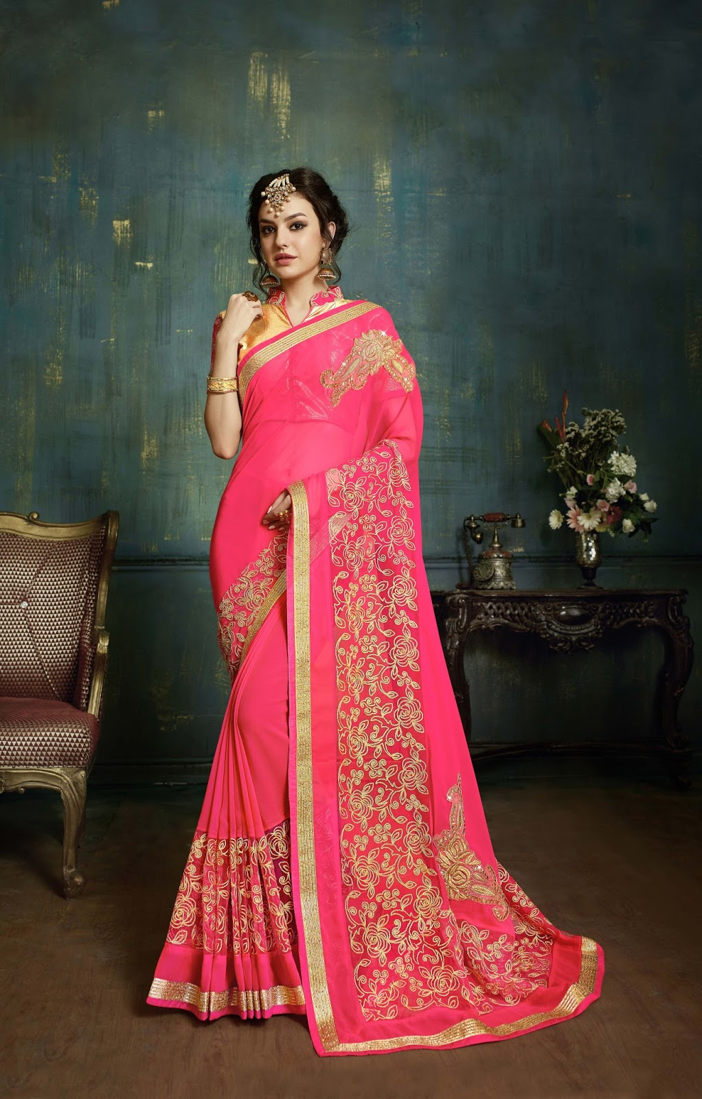 Firangi 4 – Fancy And Stylish Rish Look Designer Saree