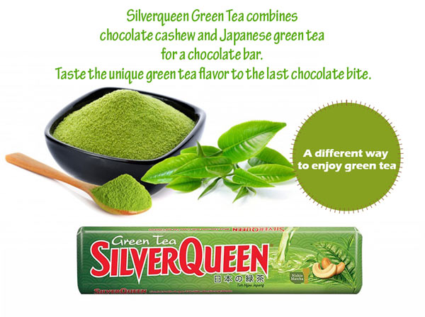 Contoh Iklan Coklat SilverQueen Green Tea dalam Bahasa Inggris