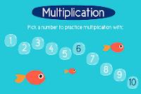 Отправляемся на рыбалку - игра таблица умножения 2