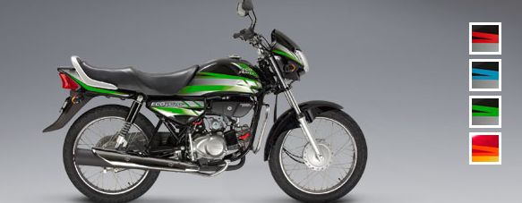 Honda Eco Deluxe: Color verde-negro