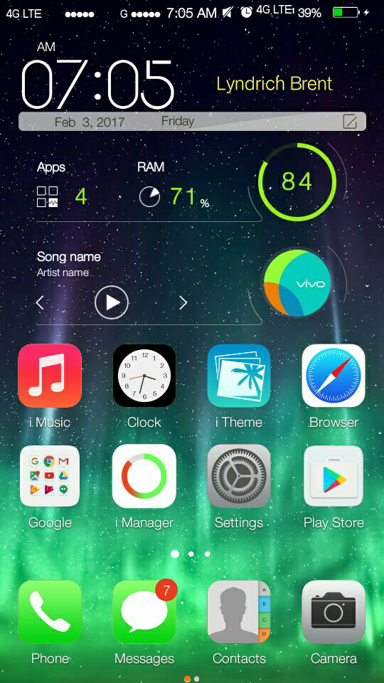 Theme Ios 7 Iphone for Vivo