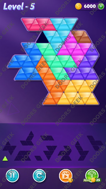Block! Triangle Puzzle 10 Mania Level 5 Solution, Cheats, Walkthrough for Android, iPhone, iPad and iPod