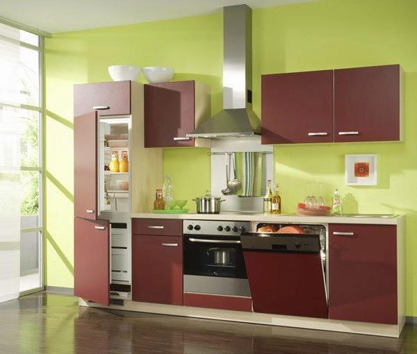 cocina marrón verde