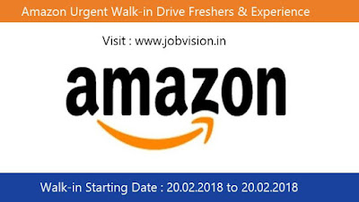 Amazon Urgent Walk-in Drive Freshers & Experience