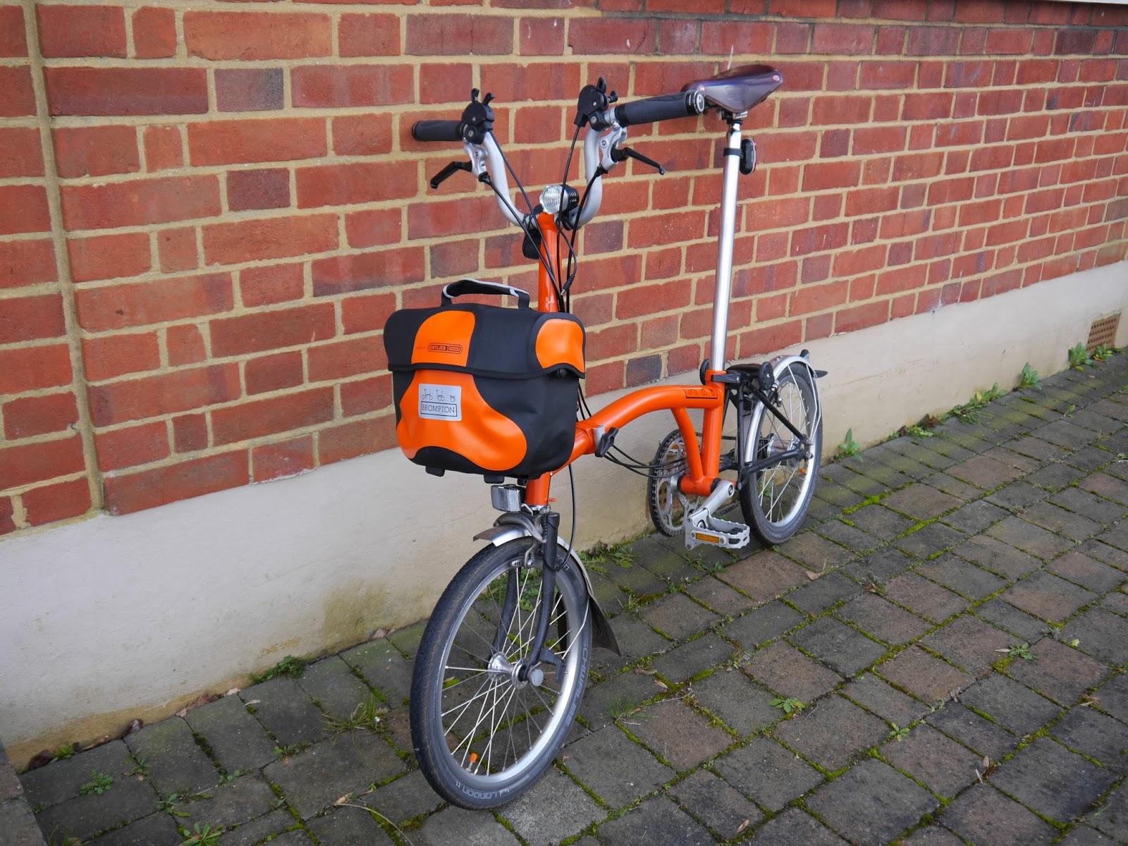 My Orange Brompton Ortlieb Brompton Mini O Bag In Orange