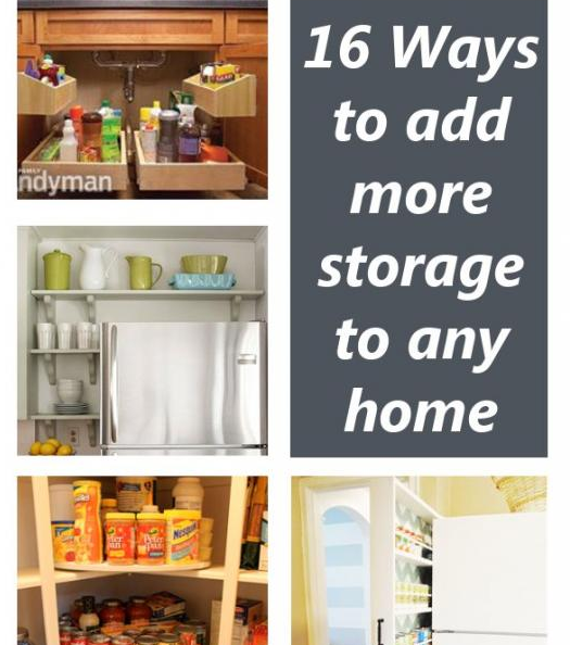 Diy home sweet home 16 ways to add more storage to any home Easy diy storage ideas for small homes
