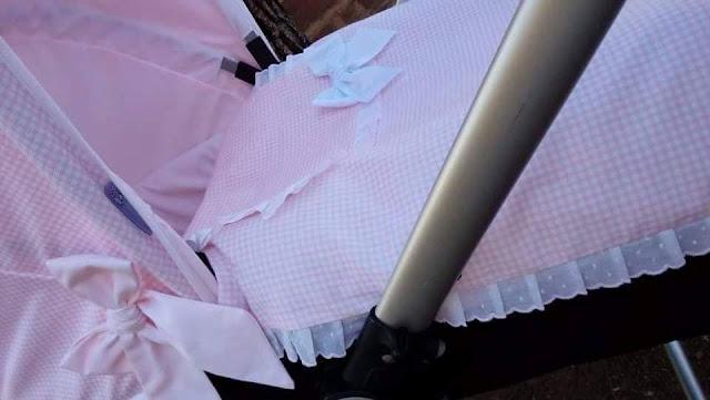 colchita Bugaboo Camaleon vichy rosa