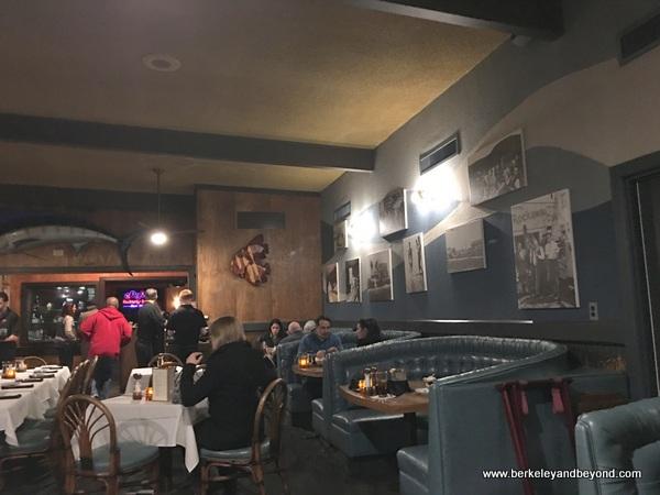 dining room at Nicks Sea Shore Dining at Rockaway Beach in Pacifica, California