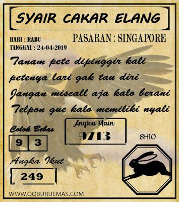 Syair SINGAPORE,24-04-2019
