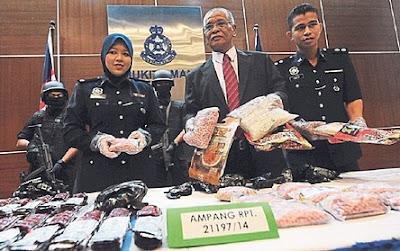 Malaysia Police Drug Bust