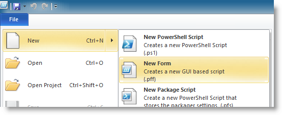 PowerShell Studio 2012 - WinForms - Creating a basic GUI