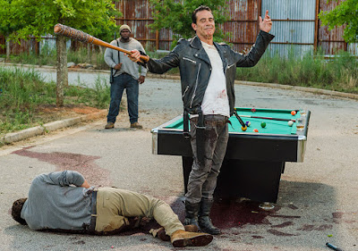 Spencer Monroe (Austin Nichols) e Negan (Jeffrey Dean Morgan) nell'episodio 8