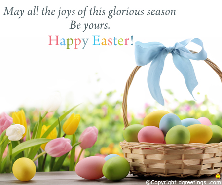 Happy Easter Greeting For Friends - Easter Greeting