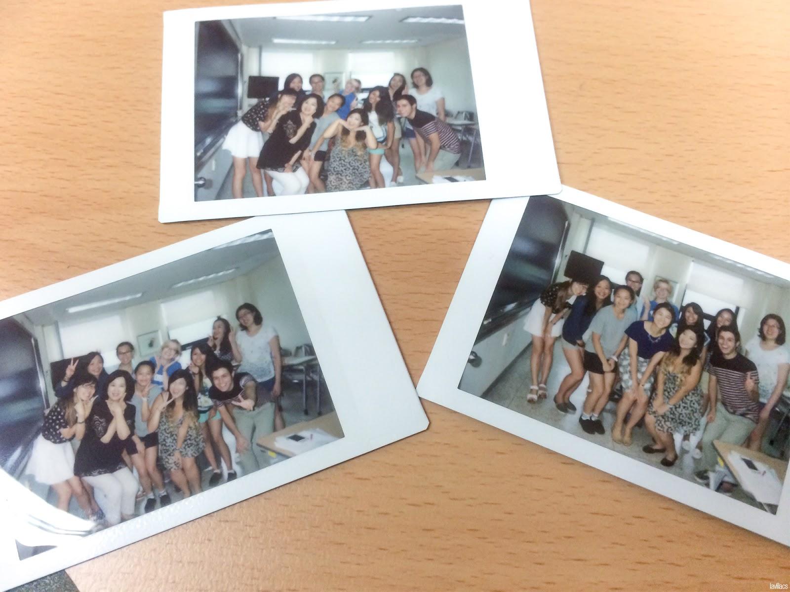 Seoul, Korea - Summer Study Abroad 2014 - Last day of KLI group photo polaroids