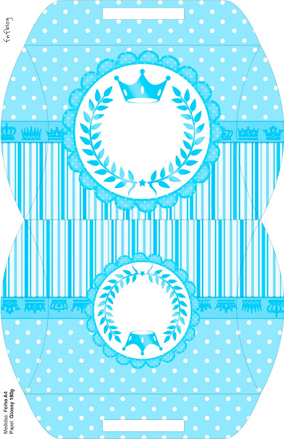 Corona Celeste: Cajas para Fiesta de 15 años para Imprimir Gratis