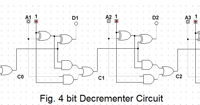 let 39 s learn computing 4 bit binary decrementer. Black Bedroom Furniture Sets. Home Design Ideas