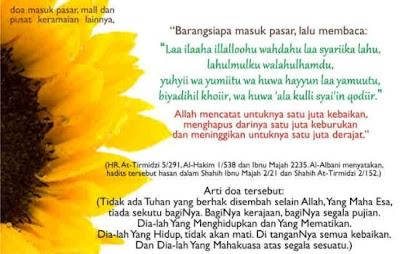 Di Akhir Ramadhan Belajar Doa Masuk Pasar