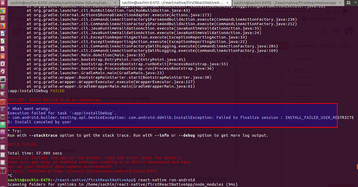 Sachin4Java: Install Via USB not working - The device is