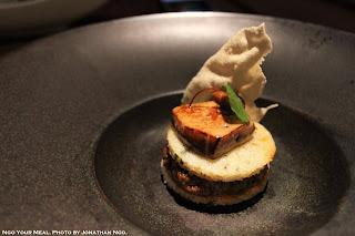 Duck Chettinad, Foie Gras, Idli, Pearl Onion Chutney at Indian Accent