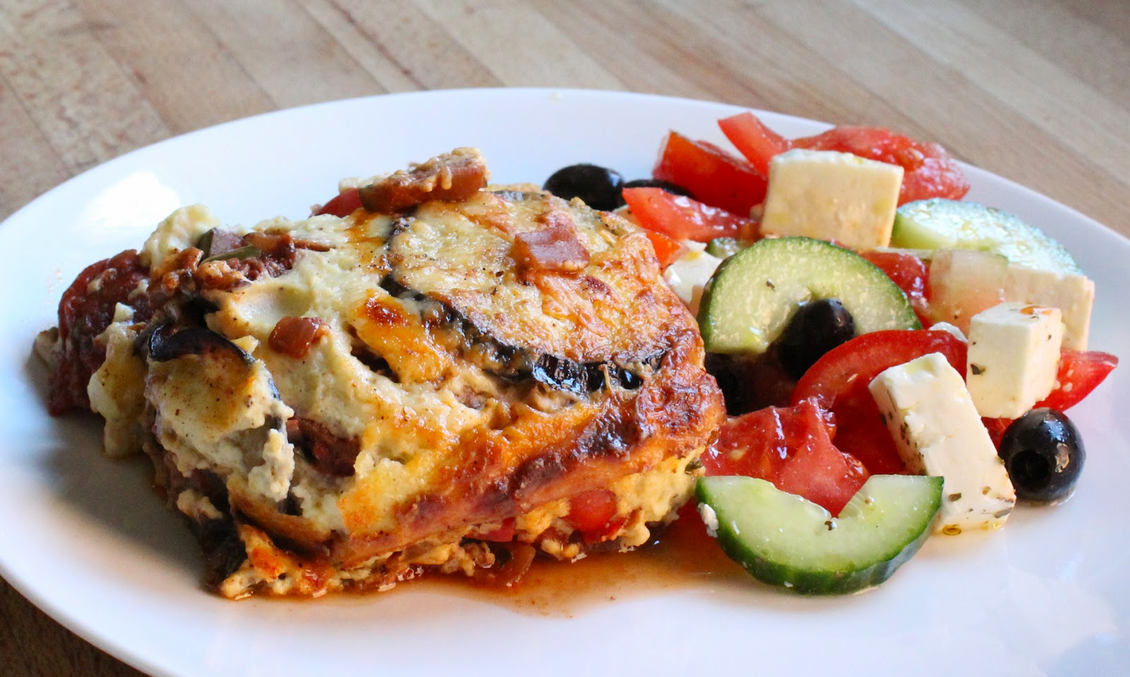 Vegetable Moussaka on a plate