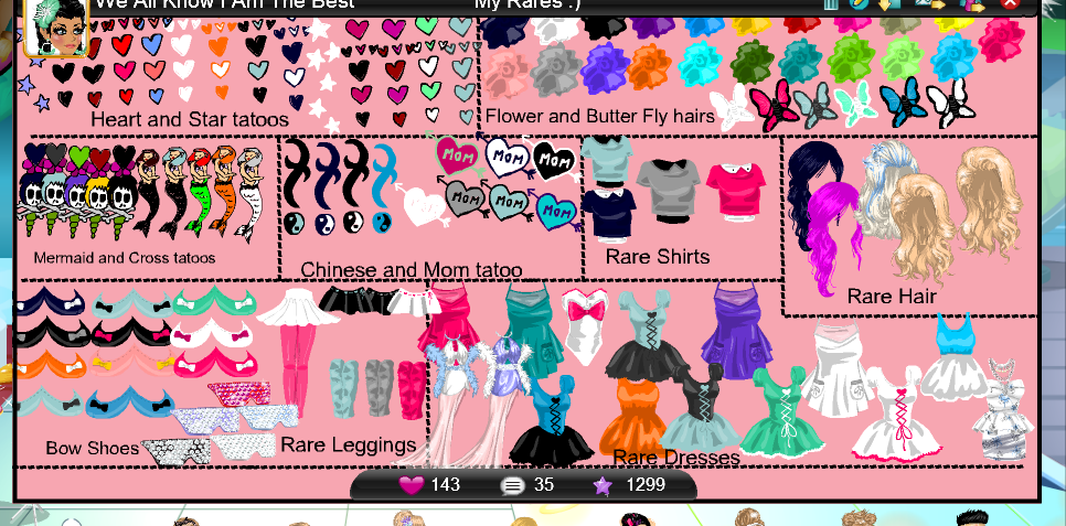What Are All The Rares On Msp